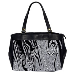 Abstract Swirling Pattern Background Wallpaper Office Handbags (2 Sides)