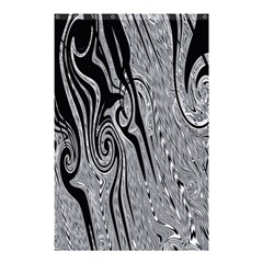 Abstract Swirling Pattern Background Wallpaper Shower Curtain 48  x 72  (Small)