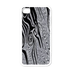 Abstract Swirling Pattern Background Wallpaper Apple iPhone 4 Case (White)