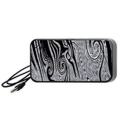 Abstract Swirling Pattern Background Wallpaper Portable Speaker (black)