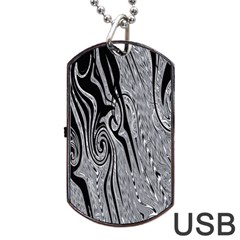Abstract Swirling Pattern Background Wallpaper Dog Tag USB Flash (Two Sides)
