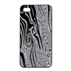 Abstract Swirling Pattern Background Wallpaper Apple iPhone 4/4s Seamless Case (Black)