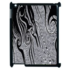 Abstract Swirling Pattern Background Wallpaper Apple iPad 2 Case (Black)