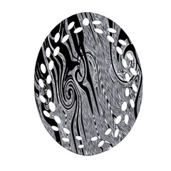Abstract Swirling Pattern Background Wallpaper Ornament (oval Filigree)
