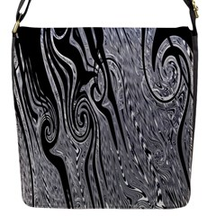 Abstract Swirling Pattern Background Wallpaper Flap Messenger Bag (s)