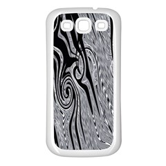 Abstract Swirling Pattern Background Wallpaper Samsung Galaxy S3 Back Case (white)