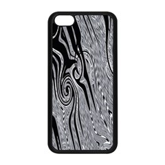 Abstract Swirling Pattern Background Wallpaper Apple Iphone 5c Seamless Case (black)