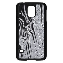 Abstract Swirling Pattern Background Wallpaper Samsung Galaxy S5 Case (black)