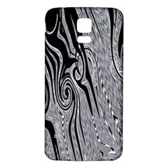 Abstract Swirling Pattern Background Wallpaper Samsung Galaxy S5 Back Case (White)