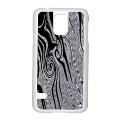 Abstract Swirling Pattern Background Wallpaper Samsung Galaxy S5 Case (White)
