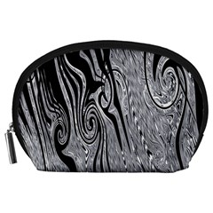 Abstract Swirling Pattern Background Wallpaper Accessory Pouches (large)