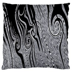 Abstract Swirling Pattern Background Wallpaper Large Flano Cushion Case (one Side)