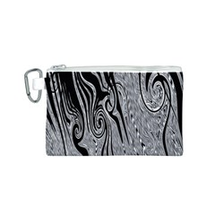 Abstract Swirling Pattern Background Wallpaper Canvas Cosmetic Bag (S)