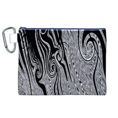 Abstract Swirling Pattern Background Wallpaper Canvas Cosmetic Bag (XL)