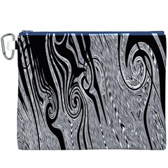 Abstract Swirling Pattern Background Wallpaper Canvas Cosmetic Bag (xxxl)
