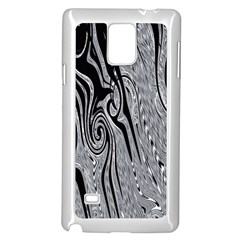 Abstract Swirling Pattern Background Wallpaper Samsung Galaxy Note 4 Case (White)