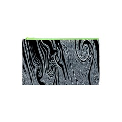 Abstract Swirling Pattern Background Wallpaper Cosmetic Bag (XS)