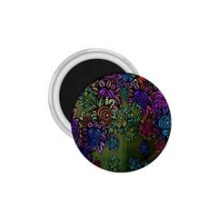 Grunge Rose Background Pattern 1.75  Magnets