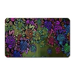 Grunge Rose Background Pattern Magnet (rectangular)