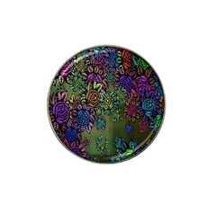 Grunge Rose Background Pattern Hat Clip Ball Marker (10 Pack)