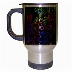 Grunge Rose Background Pattern Travel Mug (silver Gray)