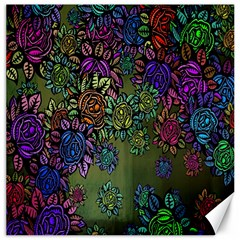 Grunge Rose Background Pattern Canvas 20  x 20