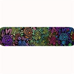 Grunge Rose Background Pattern Large Bar Mats