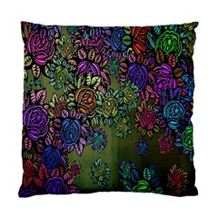 Grunge Rose Background Pattern Standard Cushion Case (two Sides)