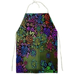 Grunge Rose Background Pattern Full Print Aprons