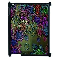 Grunge Rose Background Pattern Apple iPad 2 Case (Black)