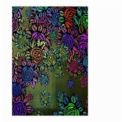 Grunge Rose Background Pattern Small Garden Flag (Two Sides)