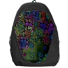 Grunge Rose Background Pattern Backpack Bag