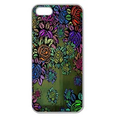 Grunge Rose Background Pattern Apple Seamless iPhone 5 Case (Clear)