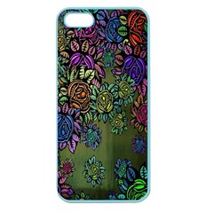 Grunge Rose Background Pattern Apple Seamless iPhone 5 Case (Color)