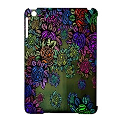 Grunge Rose Background Pattern Apple Ipad Mini Hardshell Case (compatible With Smart Cover)