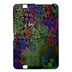 Grunge Rose Background Pattern Kindle Fire HD 8.9