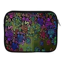 Grunge Rose Background Pattern Apple iPad 2/3/4 Zipper Cases