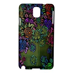 Grunge Rose Background Pattern Samsung Galaxy Note 3 N9005 Hardshell Case