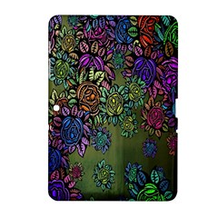 Grunge Rose Background Pattern Samsung Galaxy Tab 2 (10.1 ) P5100 Hardshell Case