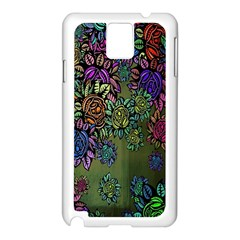 Grunge Rose Background Pattern Samsung Galaxy Note 3 N9005 Case (White)