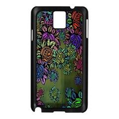 Grunge Rose Background Pattern Samsung Galaxy Note 3 N9005 Case (Black)