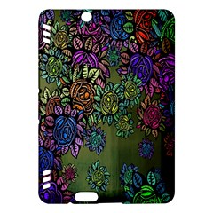 Grunge Rose Background Pattern Kindle Fire HDX Hardshell Case