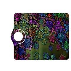 Grunge Rose Background Pattern Kindle Fire HDX 8.9  Flip 360 Case