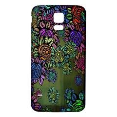 Grunge Rose Background Pattern Samsung Galaxy S5 Back Case (White)
