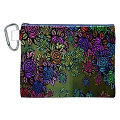 Grunge Rose Background Pattern Canvas Cosmetic Bag (XXL)