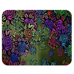 Grunge Rose Background Pattern Double Sided Flano Blanket (Medium)