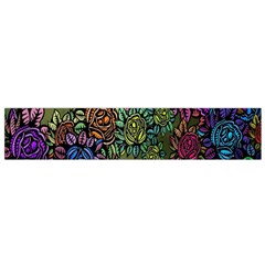 Grunge Rose Background Pattern Flano Scarf (Small)