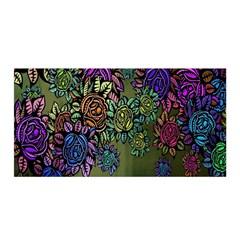 Grunge Rose Background Pattern Satin Wrap