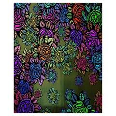 Grunge Rose Background Pattern Drawstring Bag (Small)