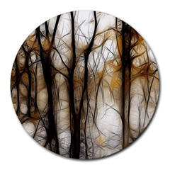 Fall Forest Artistic Background Round Mousepads